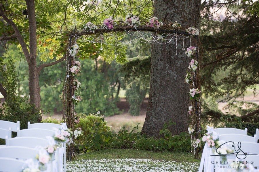 Josef chromys ceremony rustic twig willow arch flowers crystals event avenue launceston ceremony