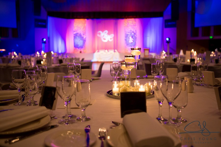 Wrest Point Hobart wedding backdrop custom gobo lighting