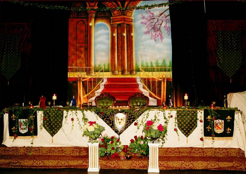 medieval themed style wedding backdrop ideas renaissance theme event avenue