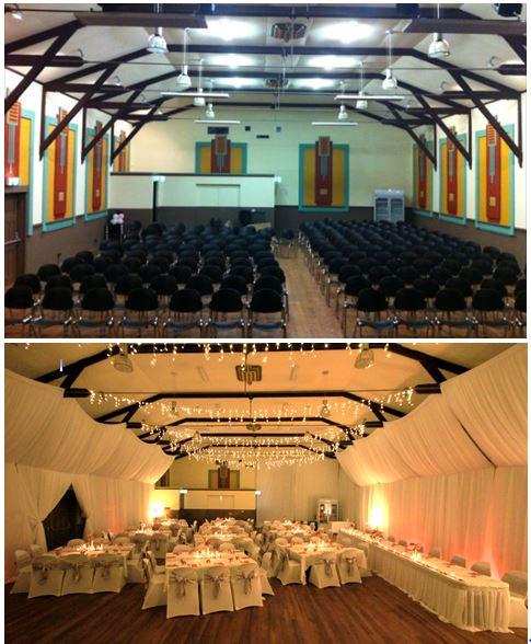 Stanley Hall Wedding Tasmania  Room Transformation draping Event Avenue