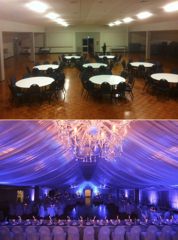 room transformation hellenic house winter wonderland wedding