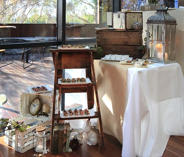 Rustic Tasmanian Food event styling for welcome cocktails at Country Club Casino Launceston