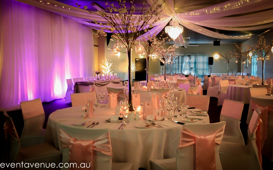 wedding styling octopus ceiling draping wedding fairy lights event avenue