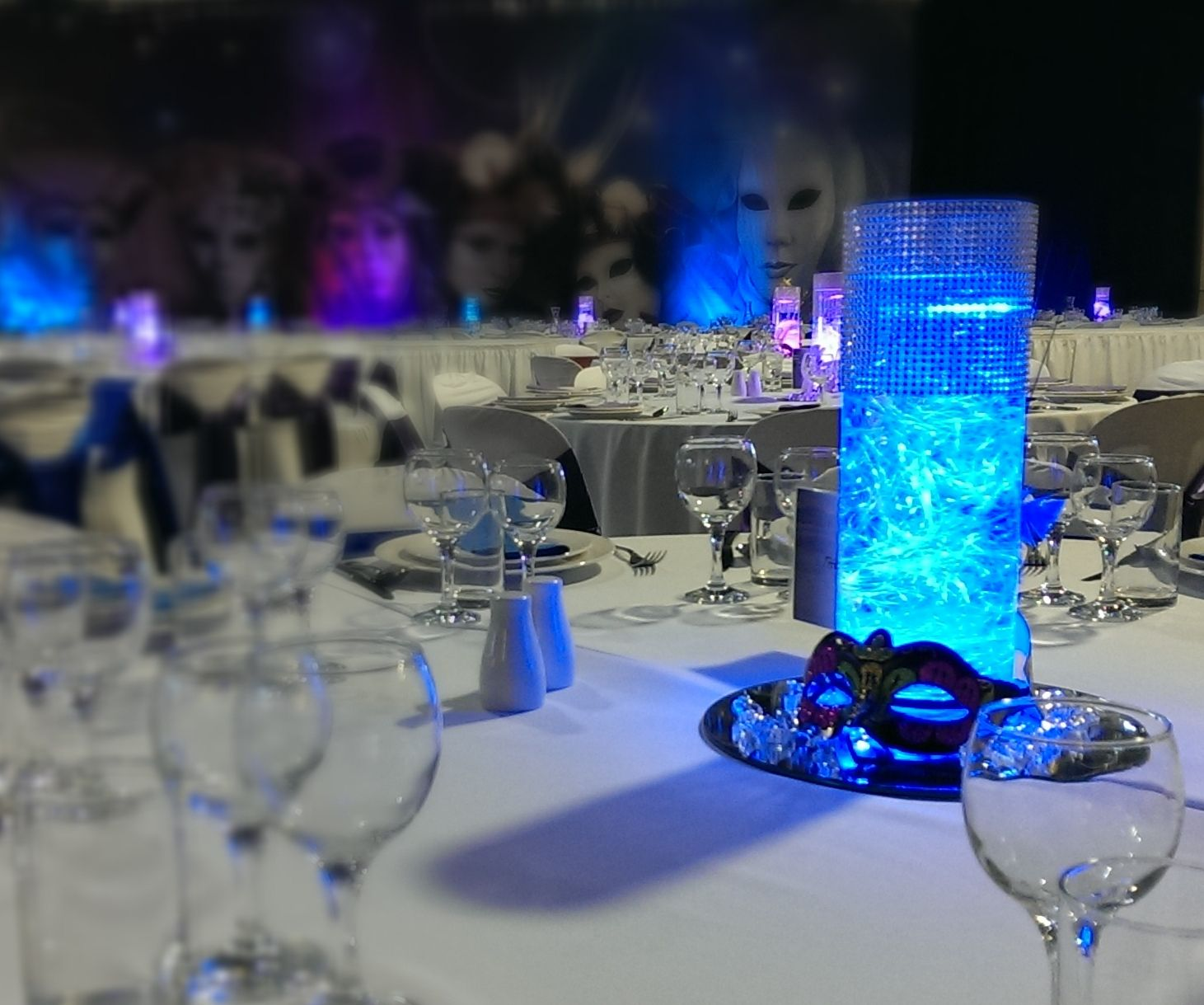 Masquerade Ball Event Styling Tasmanian Woolnorth Themed Centrepiece Avenue