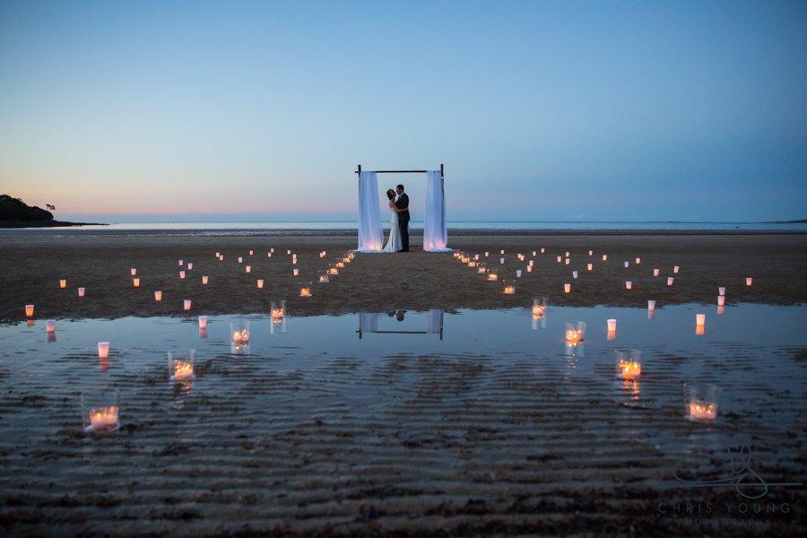 beach wedding at night ceremony ideas romance greens beach tasmania event avenue