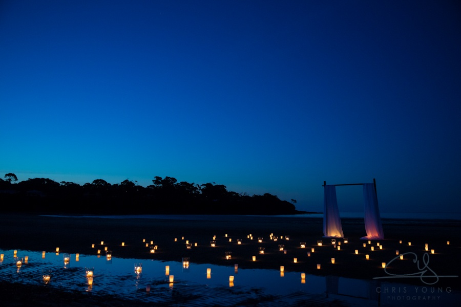 Sunset wedding photo night ceremony ideas greens beach romance event avenue
