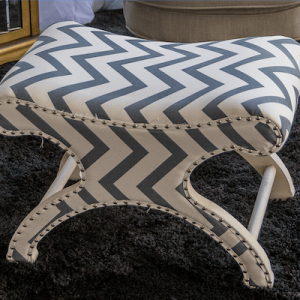 Chevron ottoman furniture hire