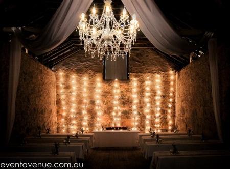 Fairy light backdrop