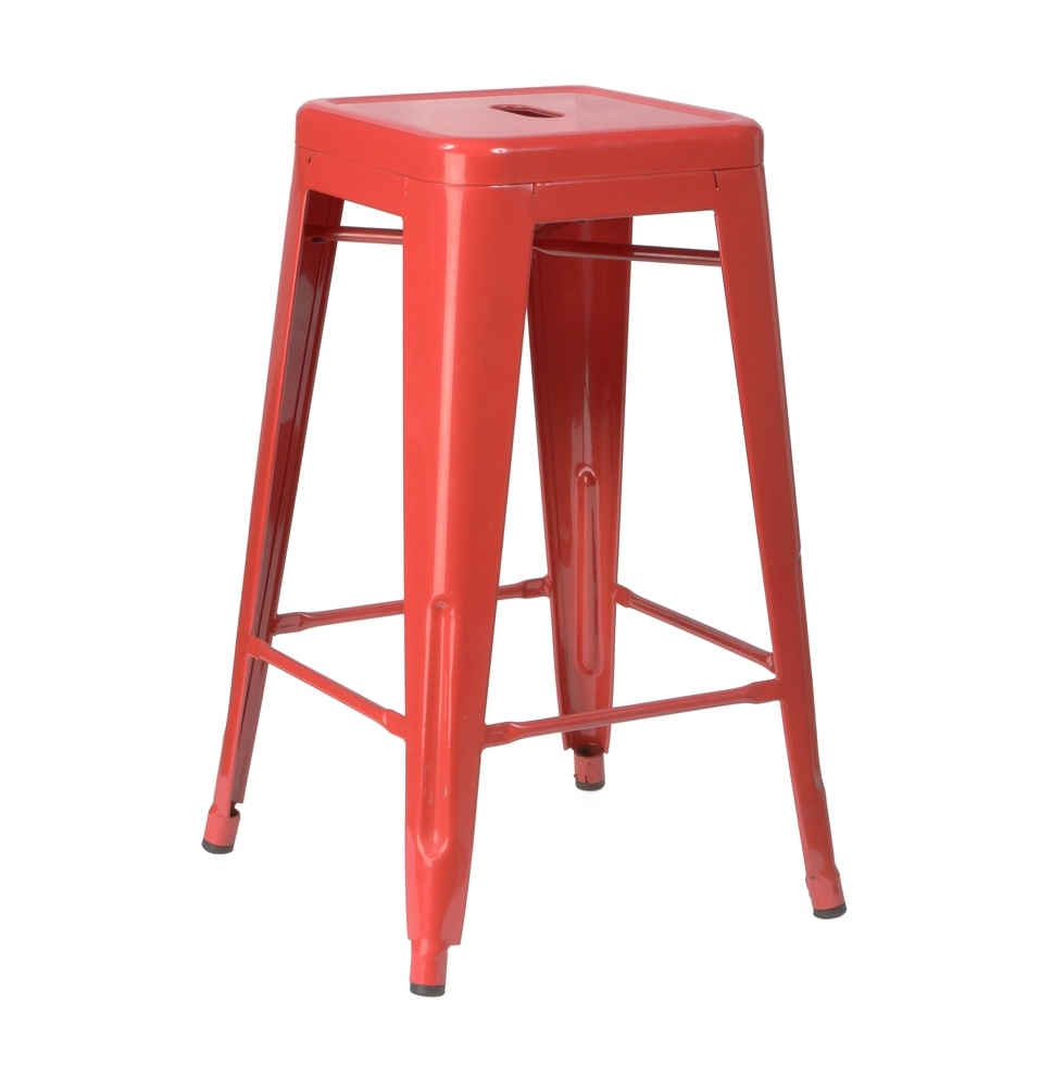 Tolix bar stool red event avenue event avenue for Tolix stuhl replik