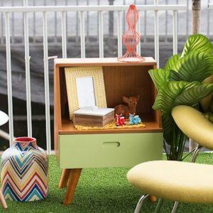 Retro side table furniture hire