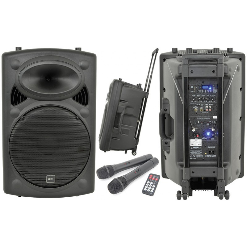 large dj speakers on stands double speakers event avenue event avenue. Black Bedroom Furniture Sets. Home Design Ideas