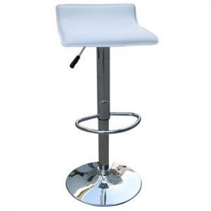 White Chrome Bar stool