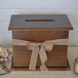 Wooden gift card wishing well
