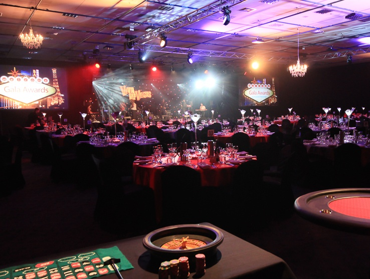 Grand Chancellor Hobart event theming Casino