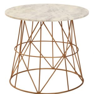 Marble Gold Side Table 50cm