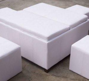 Pod White Ottoman 8 Seater