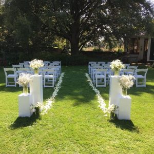 White Aisle Entrace Ceremony
