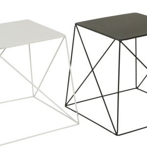 Wire Side Table White 39cm