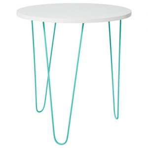 Side table white hair pin