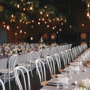 Frogmore Creek wedding Hanging foliage Tasmanian stylist