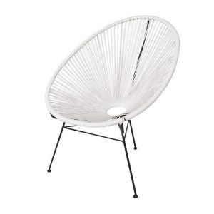 White acapulco Chair Furniture Hire Tasmania