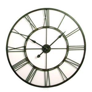 Black large clock prop hire 100cm