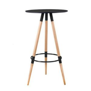 Bar Table Black Three Spoke