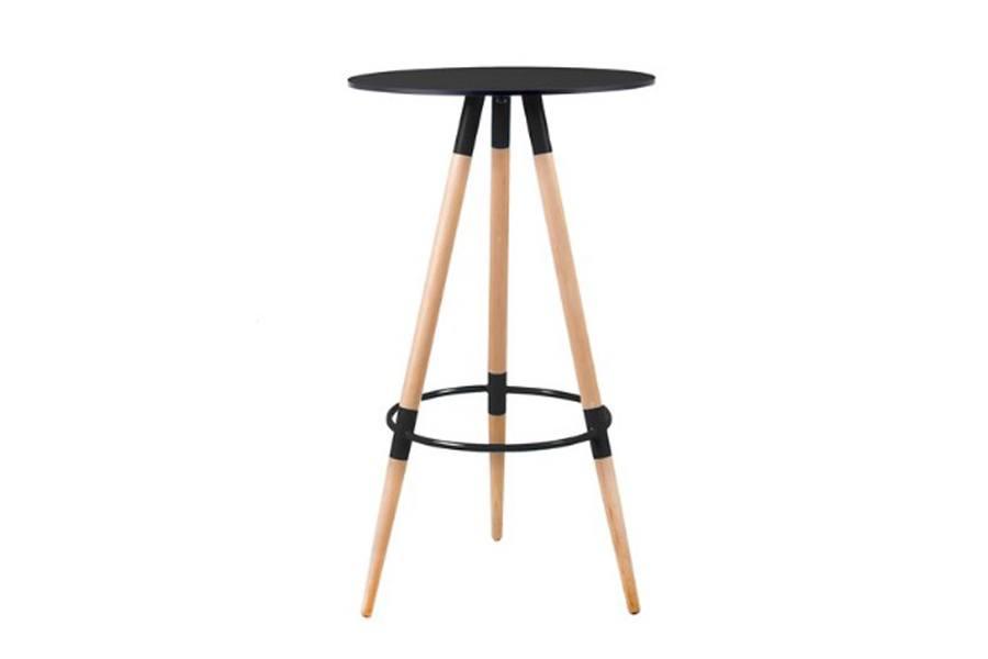 Bar Table Black Three Spoke