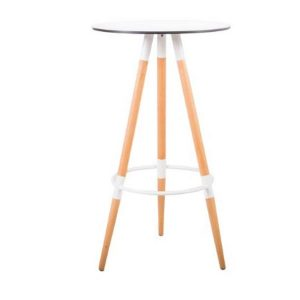 Bar Stool White Three Spoke