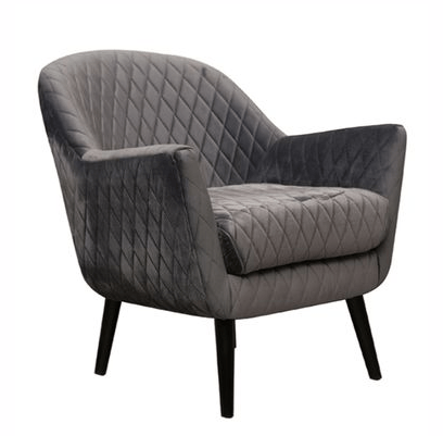 Grey Velvet Arm Chair Hire Tasmania