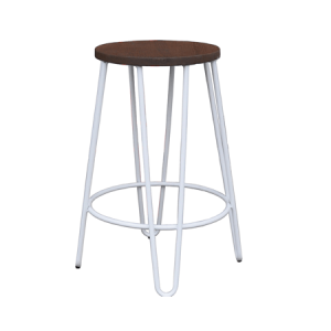 Chair Hire White bar stool hairpin leg