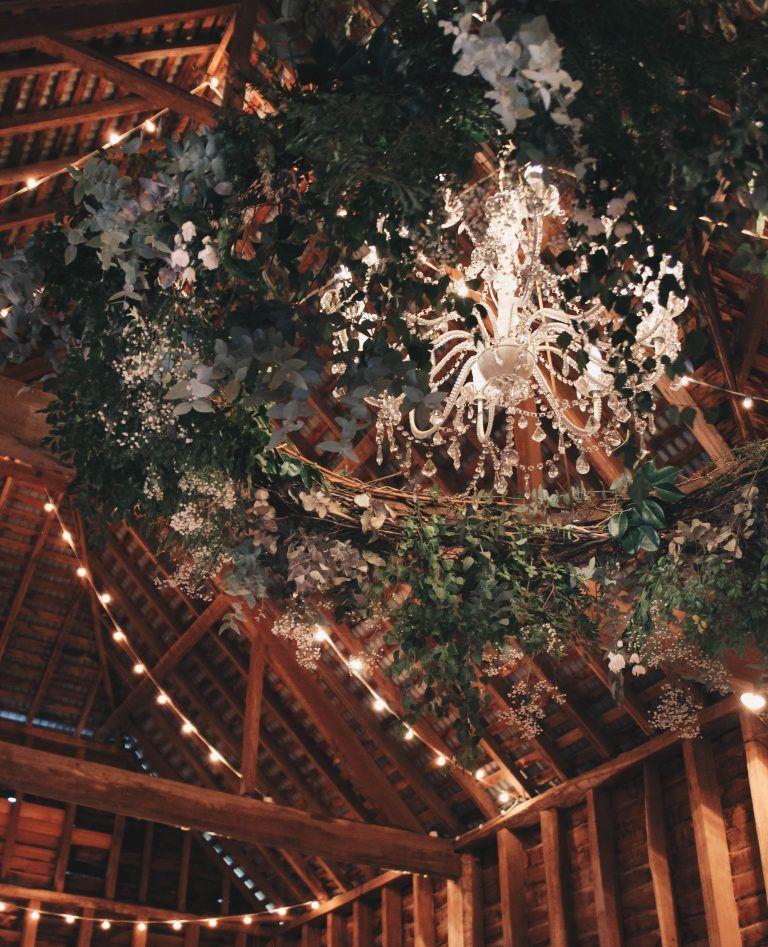 Brickendon foliage chandelier barn florist launceston