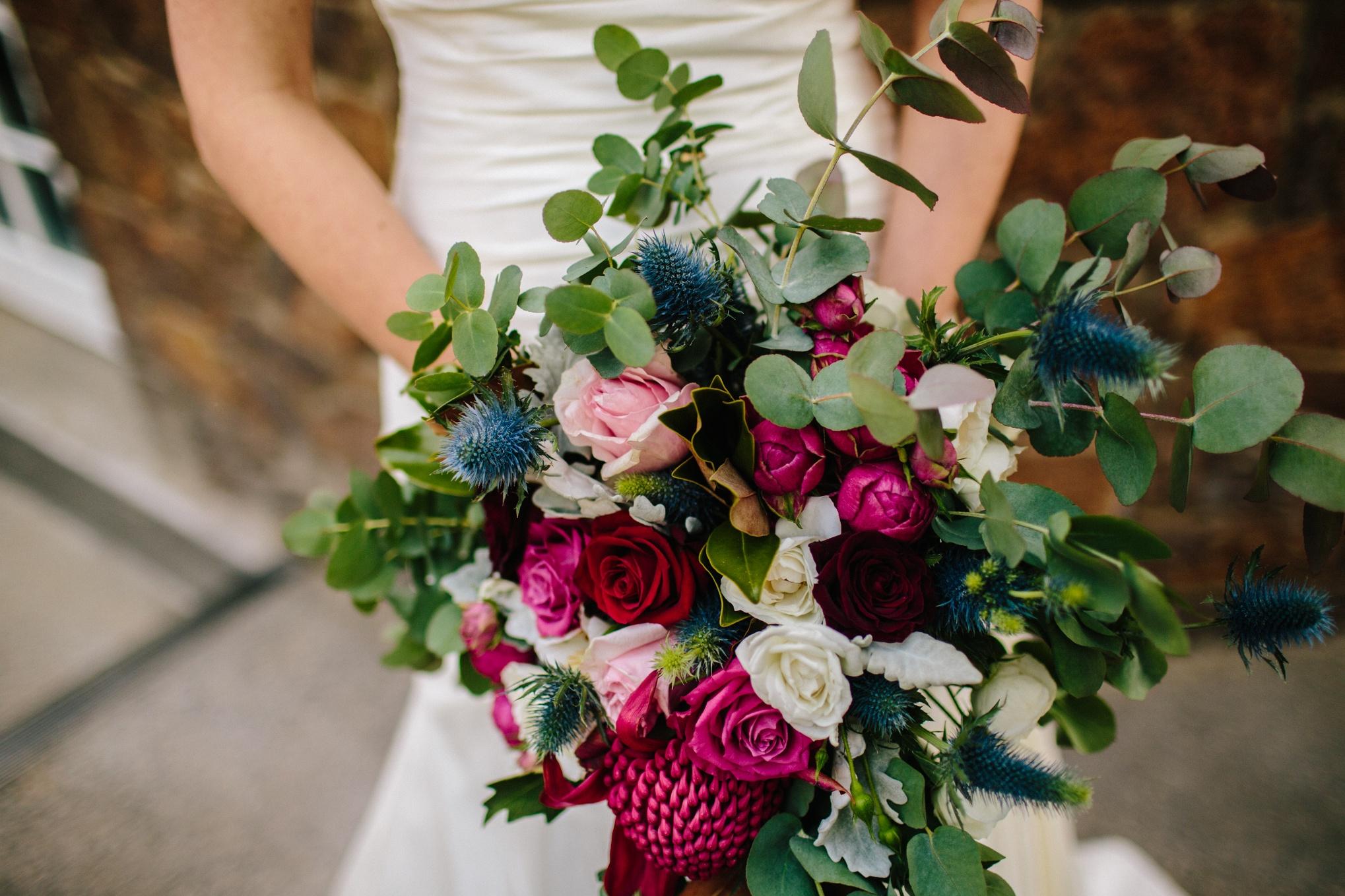 Natural bridal bouquet Launceston wedding florist