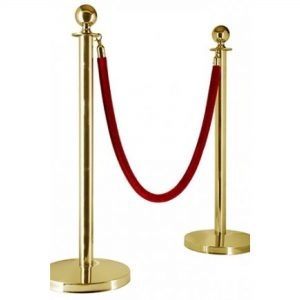 Gold bollards Hire Tasmania Hobart Launceston