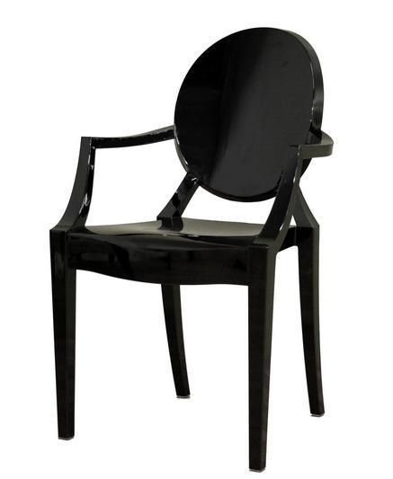 Black Ghost Chair With Arms Event Avenue