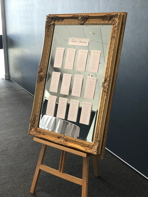 Seating Chart On Mirror With Easel Event Avenue