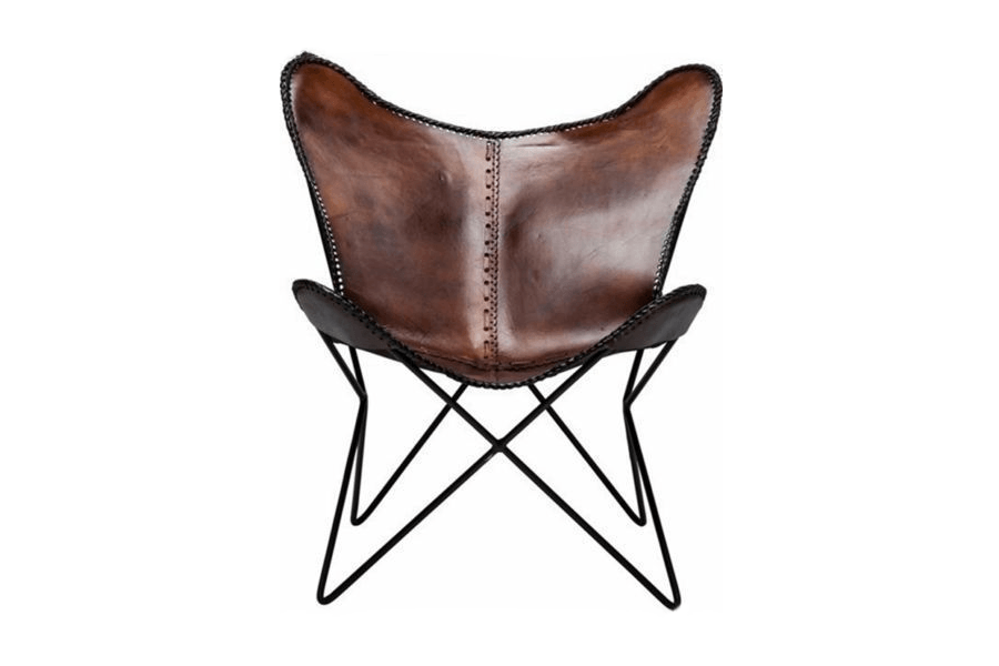 Butterfly Chair Brown Leather Event Avenue